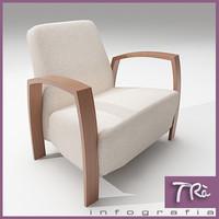 3d bedroom armchair model