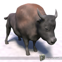 bison animation north 3d c4d