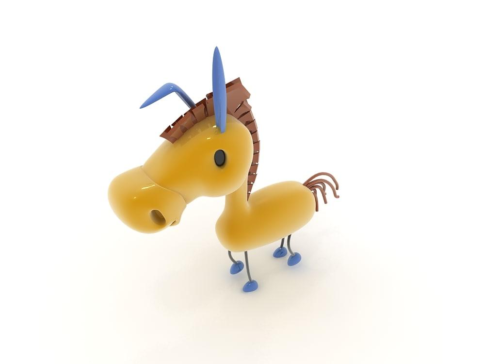 cartoon donkey 3ds