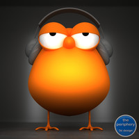 3d model of dj chick