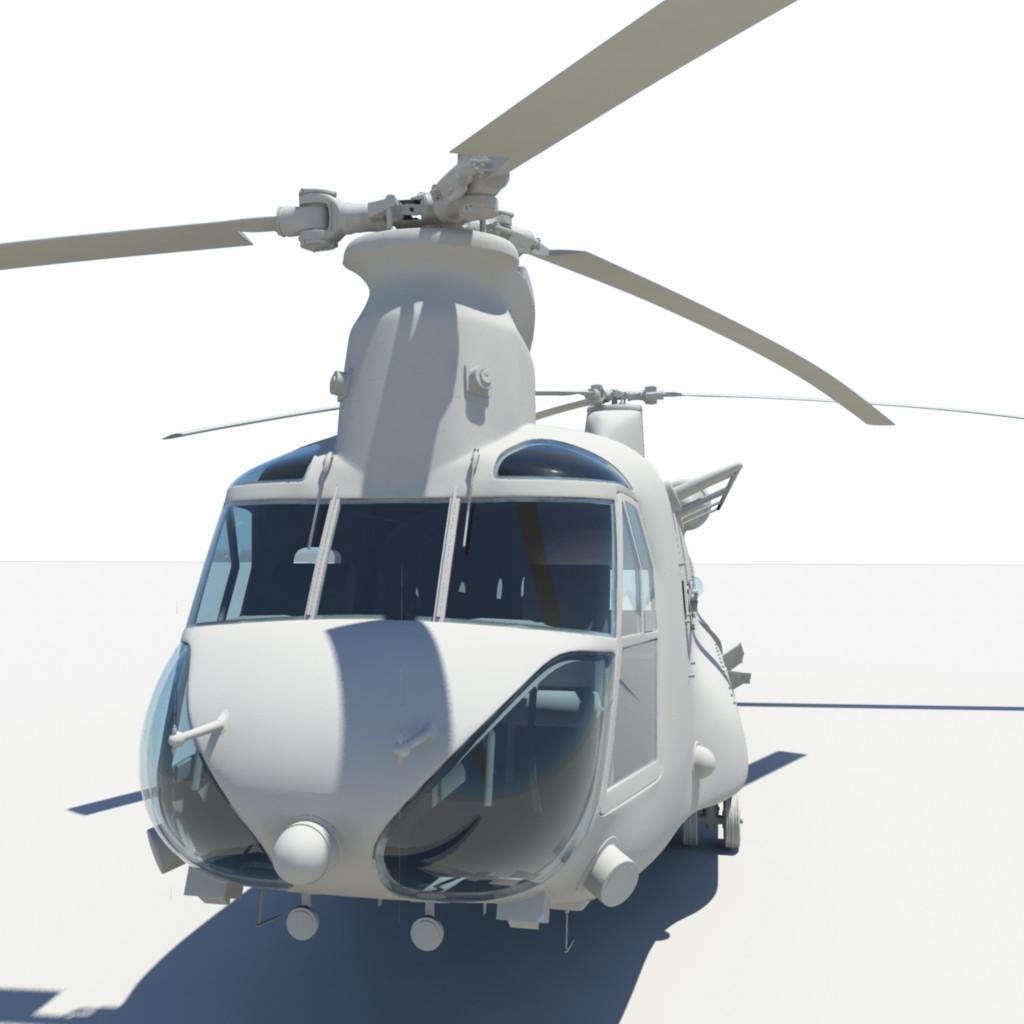 3d untextured ch-47