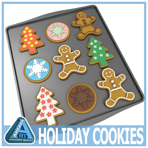 dxf set holiday cookies