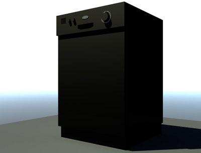 3d model dishwasher kitchen