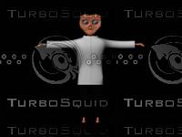 3d alien scientist