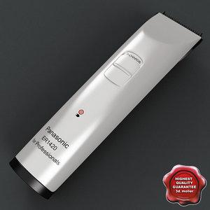 hair trimmer panasonic er-1410 3d max