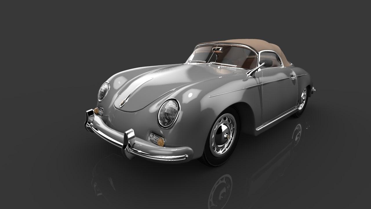 3d car porsche 356