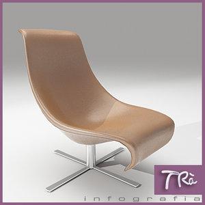 living room armchair 3d model