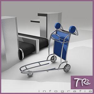 max luggage cart airports