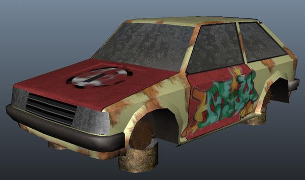 3d model wrecked 323
