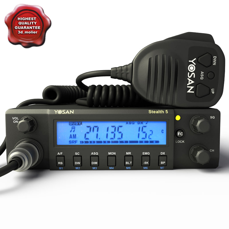 3d mobile cb radio yosan model