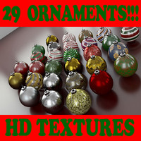 Ornament Collection 1 - 29 Ornaments Collection - 3ds max 2010 - Mental Ray