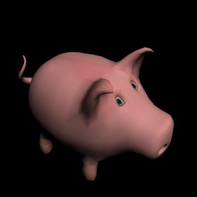 funny pig 3d model
