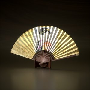 3ds max japanese fan