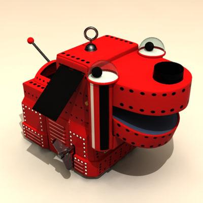 vintage toy robot space 3d max