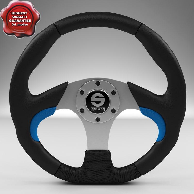 steering wheel sparco naxos 3d model