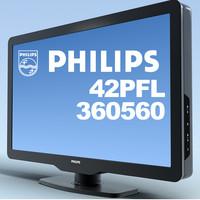 tv philips 42pfl360560 3d max