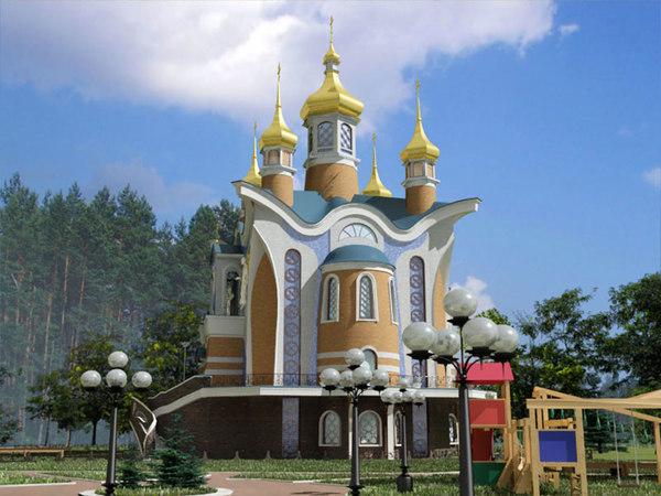 church ornate 3d model