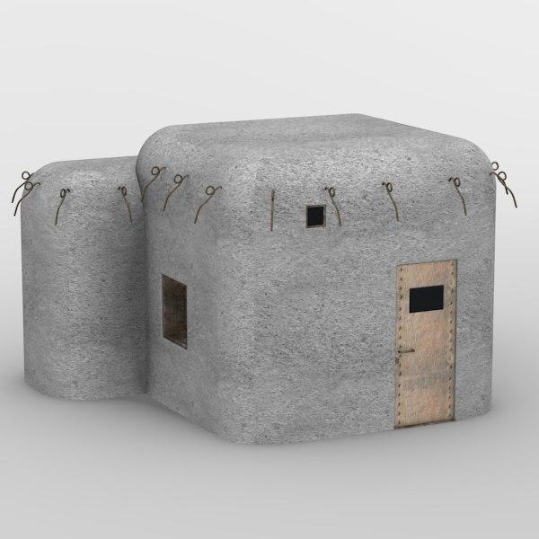 bunker military 3d 3ds