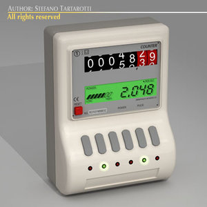 power counter 3d model