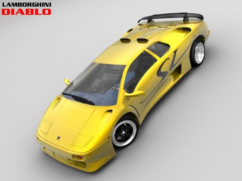 3d Lamborghini Diablo Sv Sport