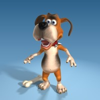 cute cartoon dog 3d max