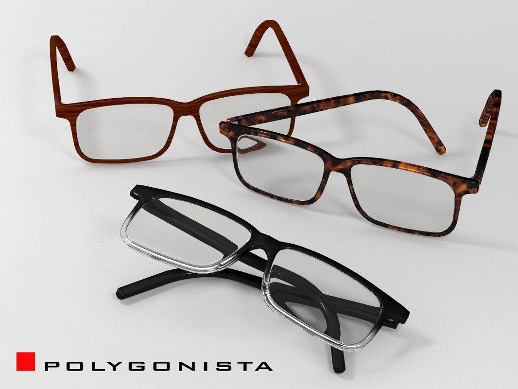 3d eyeglasses 3 materials