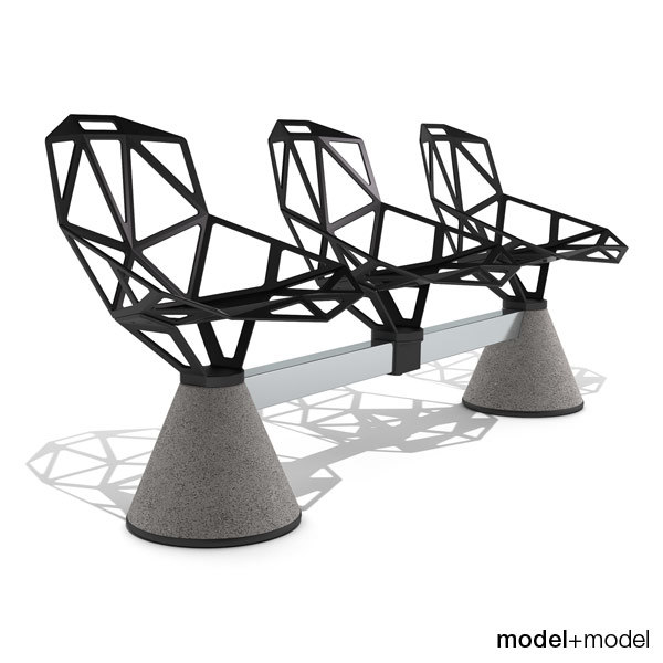 3d chair public seating 1