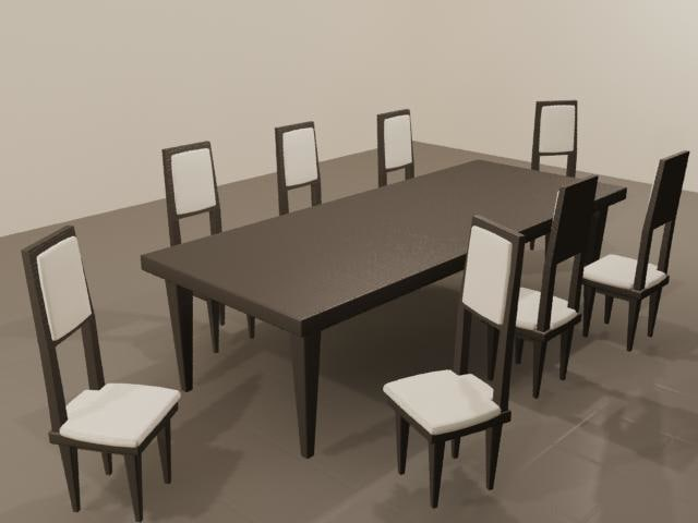 3d model ikea styled dining table