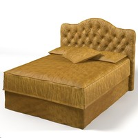 Lexington classic bed tufted back traditional