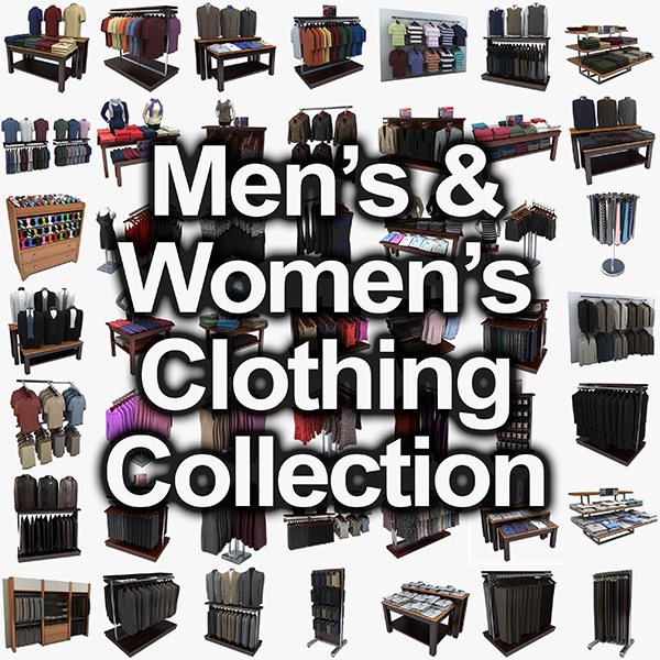 men womens clothing 3ds