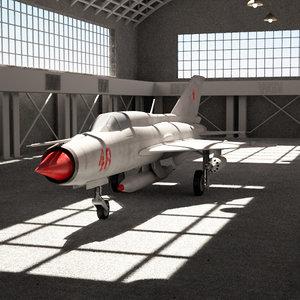 hangar scene 3d model