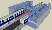 3ds max monorail station