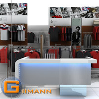 3ds max clothes rack display