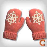 3d model of gloves