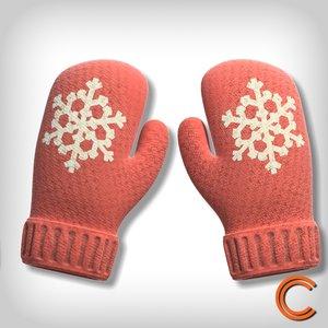3d model of gloves