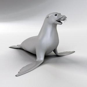 3d model sea seal