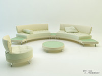 Photorealistic sofa set MUTABILIS