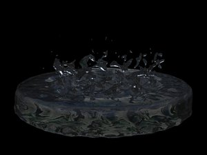 3ds max realflow water splash animation