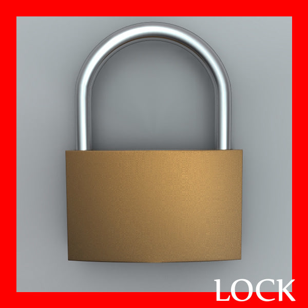padlock lock pad 3ds