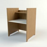 study carrel - materials 3d max