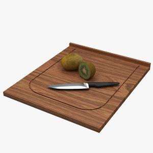 board kiwi knife 3d model