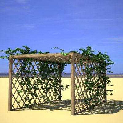 3d model pergola plant