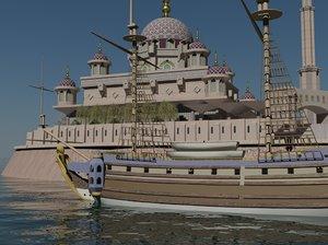 putrajaya mosque 3d model
