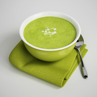 CGAxis 3D Model Bowl of Soup