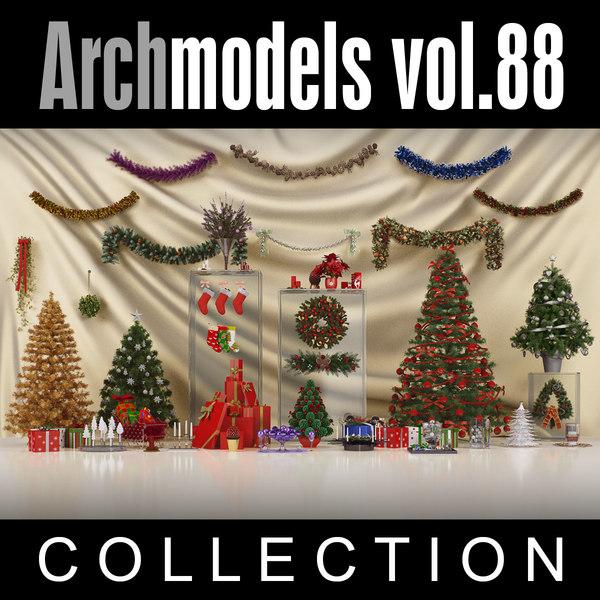 3d archmodels vol 88 christmas decorations model