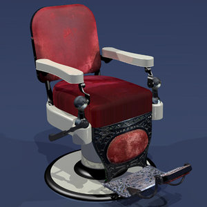 barber chair 3d 3ds