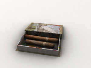 book box cigars obj