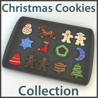 christmas cookies 3d max