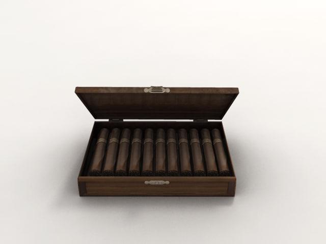 cigar box 3d model