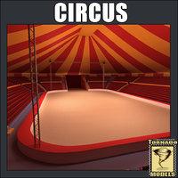 3d model circus interior exterior
